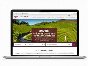 web design freelance et ergonomie UX/UI design Vinotrip