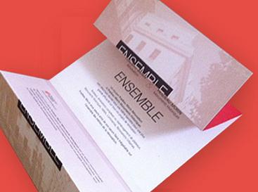 Directeur artistique freelance, création invitation pour le client Pradeau Morin