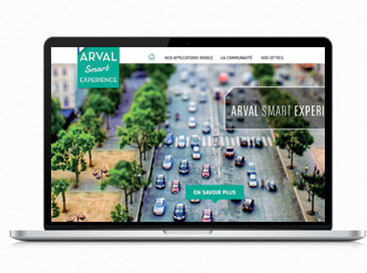 Digital design freelance intranet arval