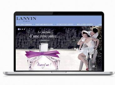 Digital UX design freelance produit de luxe Parfum Lanvin