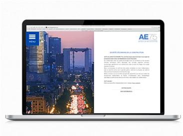 Ergonomie et web design du site internet AE75
