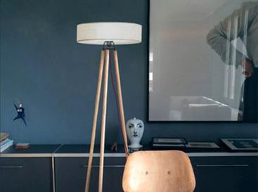 design luminaire lampadaire nonne Blanc
