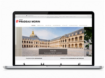 digital designer freelance, site internet Pradeau Morin
