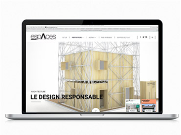 UX/UI design, digital design freelance, création site internet du magasine Suisse Espaces Contemporains
